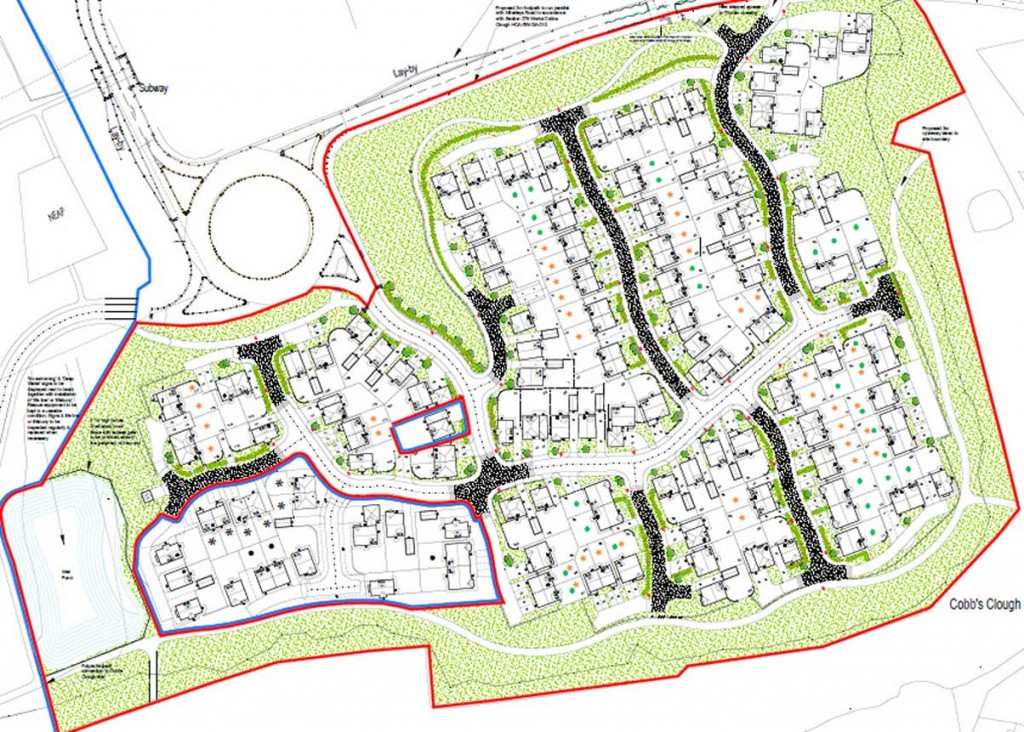 Plan for homes at Whalleys South